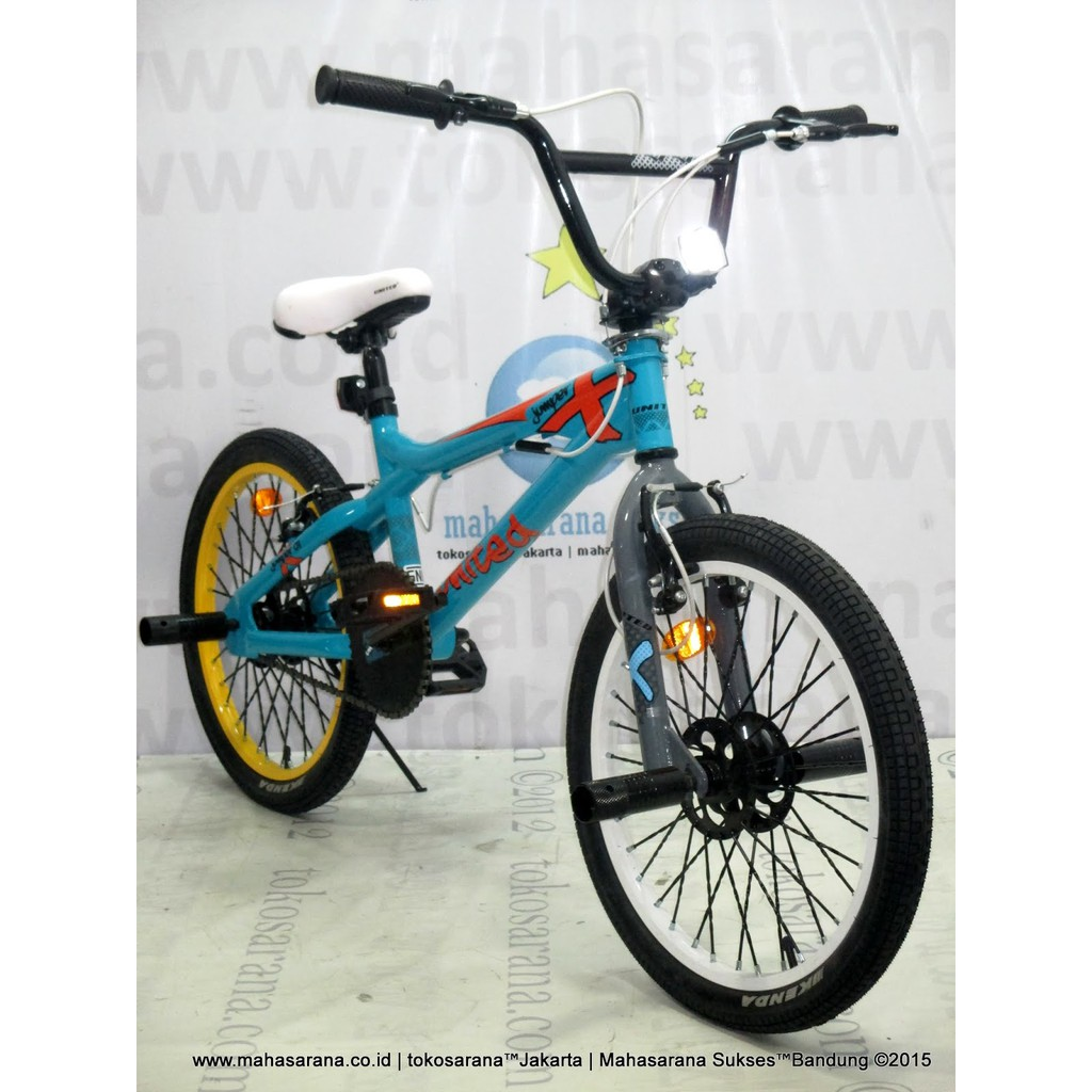 Sepeda Bmx United Jumper X 01 Remaja Dewasa 20 Inci Hi Ten Steel Stem With Rotor Freestyle Bike Shopee Indonesia