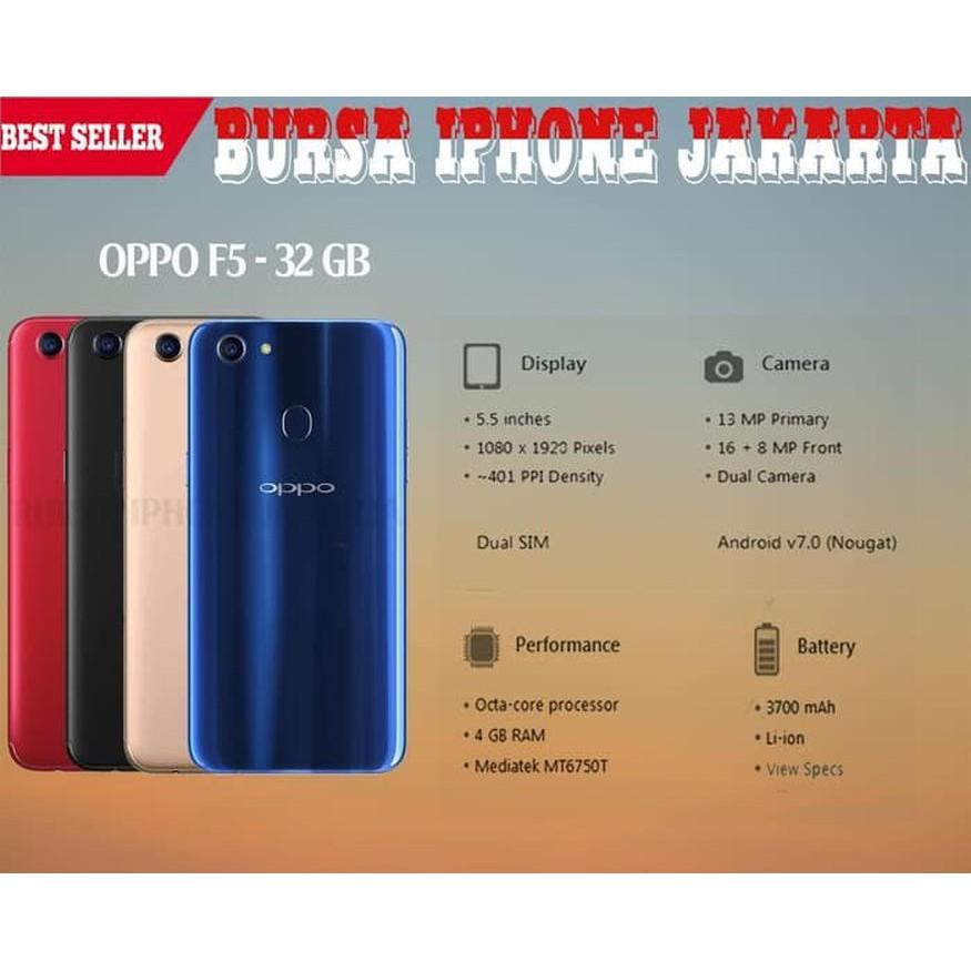 [Second/Bekas] OPPO F5 32GB - Merah Handphone/HP
