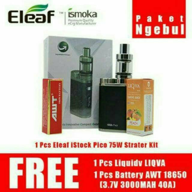 Vape Eleaf iStick Pico 75W Vapor / Vaporizer / Rokok Elektrik | Shopee Indonesia