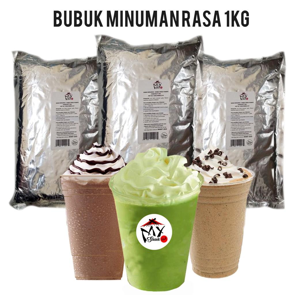 BUBUK MINUMAN RASA 1KG - BUBBLE DRINK POWDER - MILKSHAKE - ICE BLENDED POWDER - SERBUK CAPCIN   Shopee Indonesia