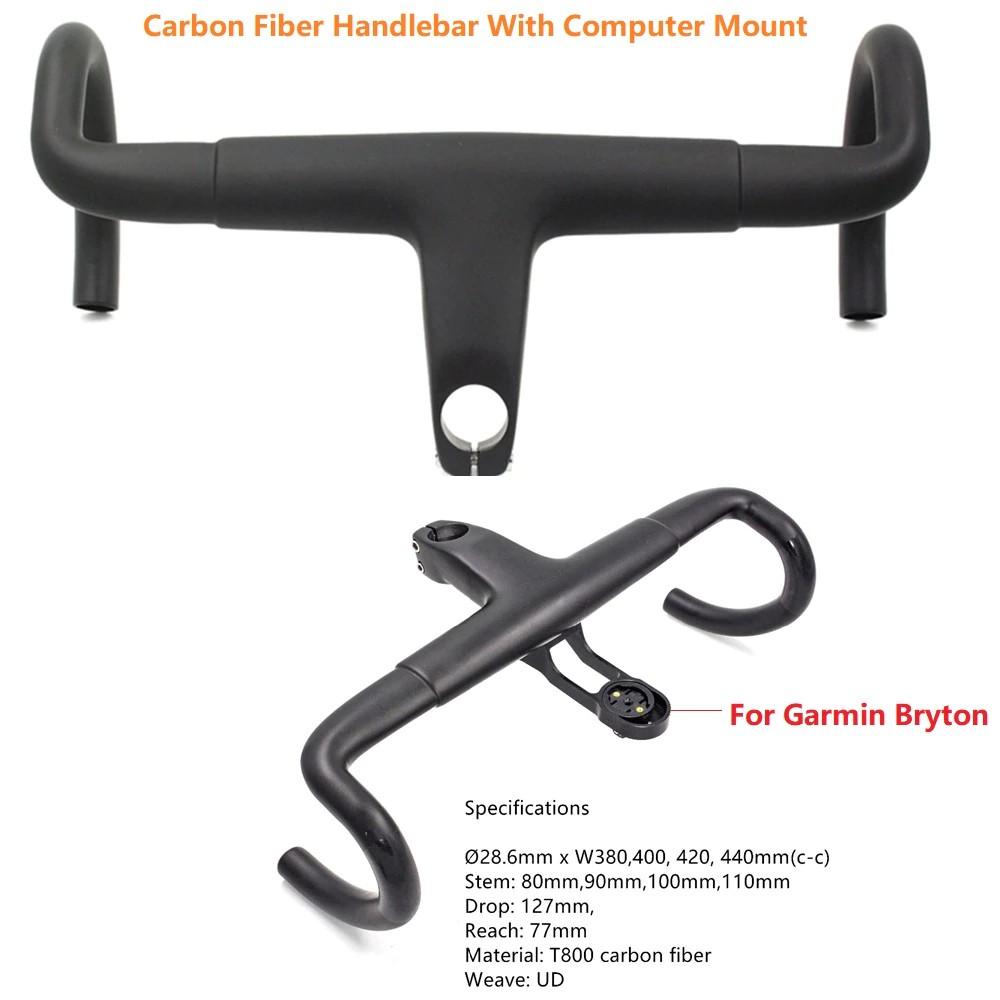 Full Carbon Fiber Road Bike Handlebars 380//400//420//440mm Cycling Racing Drop Bar