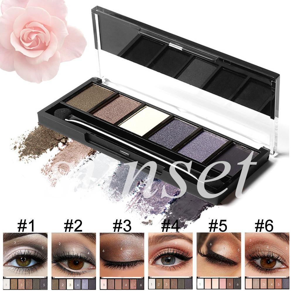 🌹Focallure✨6 Colors Eyeshadow Palette Glamorous Smokey Shimmer Colors Makeup Kit Eye makeup