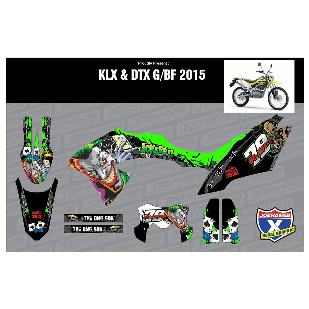 Decal sticker klx dtracker bf motif joker shopee indonesia