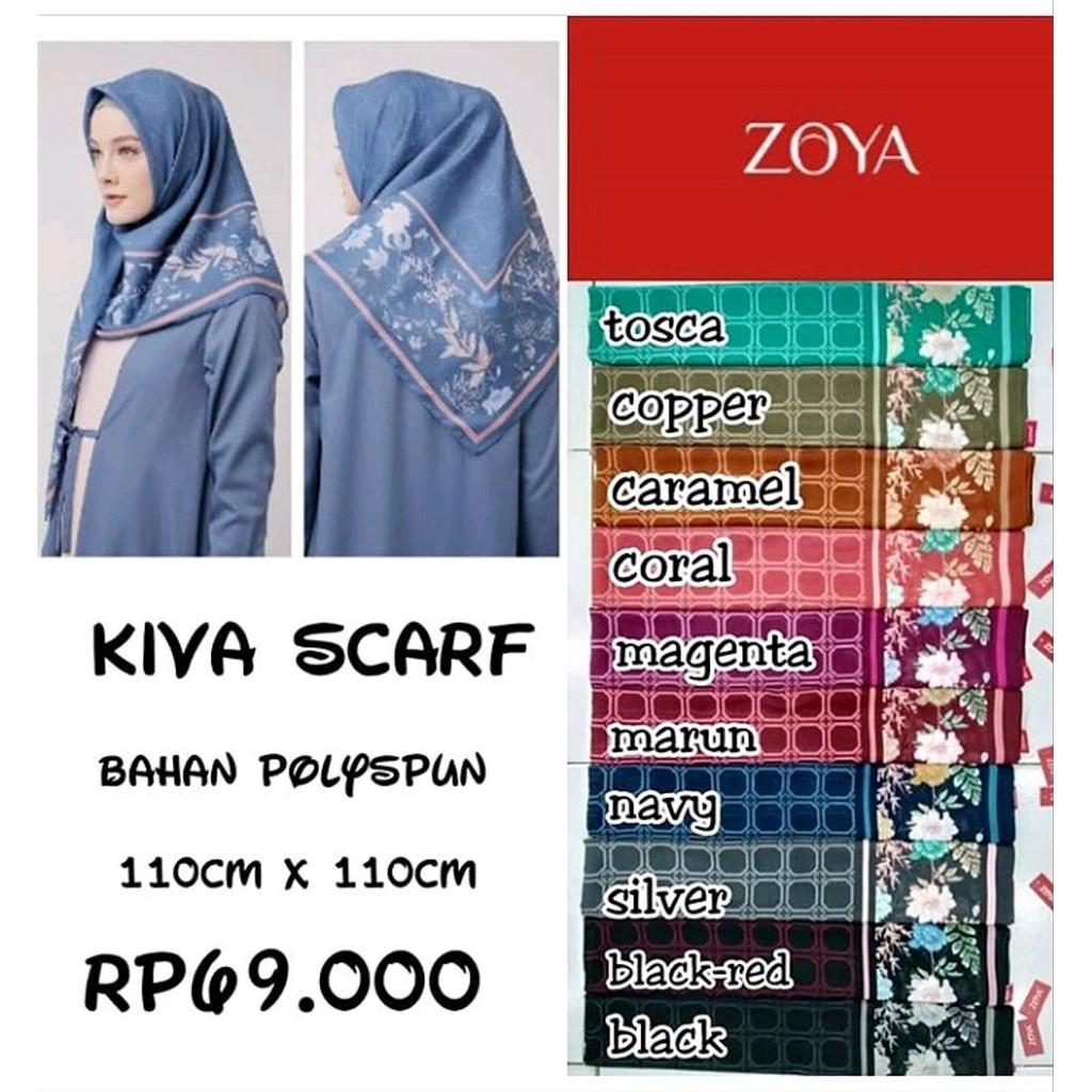Scraf Zoya - kerudung Zoya - Segi Empat Zoya - Hijab zoya - Zoya Segi Empat  Motif - Hijab segi empat