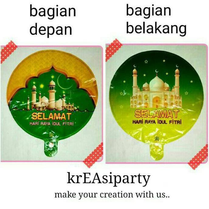 Promo Balon Foil Idul Fitri Balon Selamat Lebaran Souvenir Idul