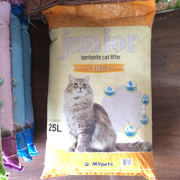 Pasir Kucing Junior 25l Gumpal Wangi Cat Sand Pasir Kucing Murah Shopee Indonesia