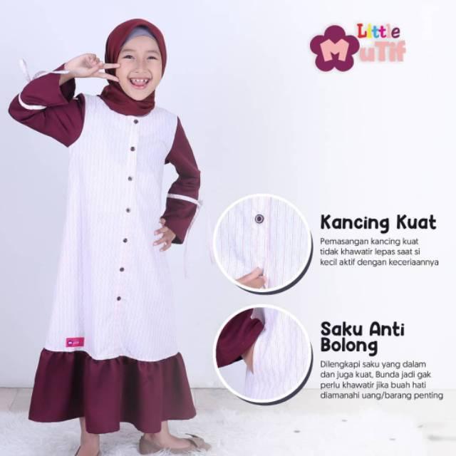 Gamis Anak Peremuan Mutif Lmg Farah Terbaru 2020 Original Shopee Indonesia