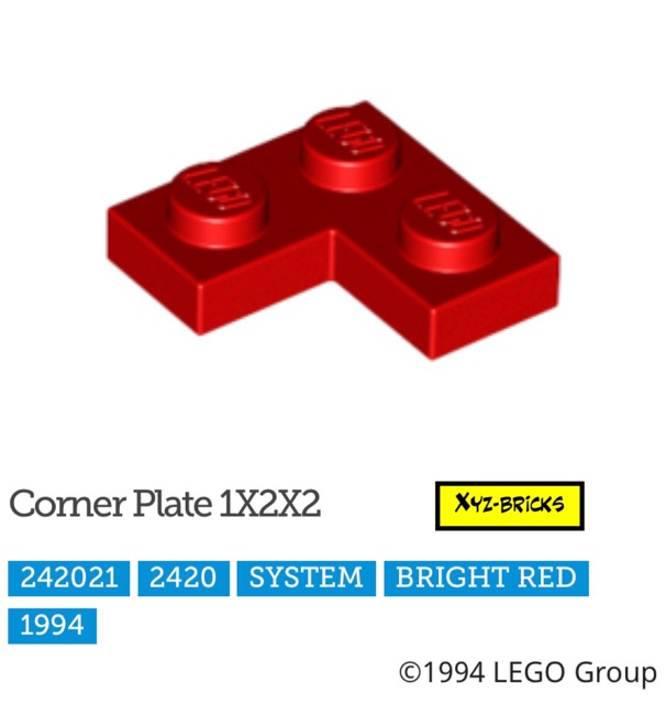 Lego 3023 x10 Plate 1 x 2 Trans-Red