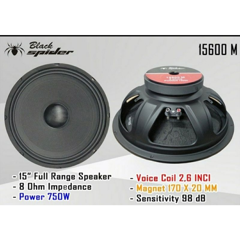 "Speaker Black Spider 15"" 15600 M"