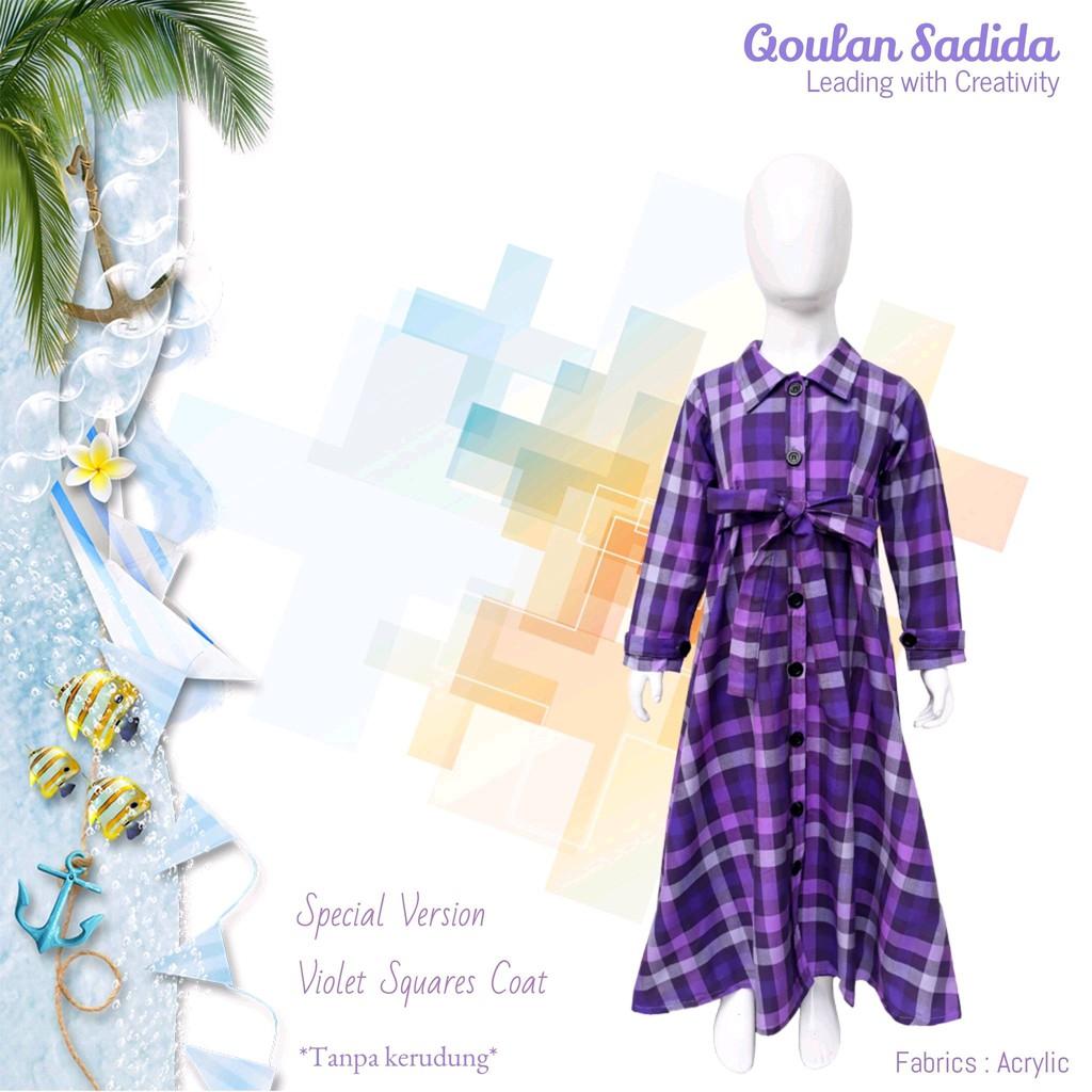 Mantel Anak Muslim Violet Square Coat by Qoulan Sadida