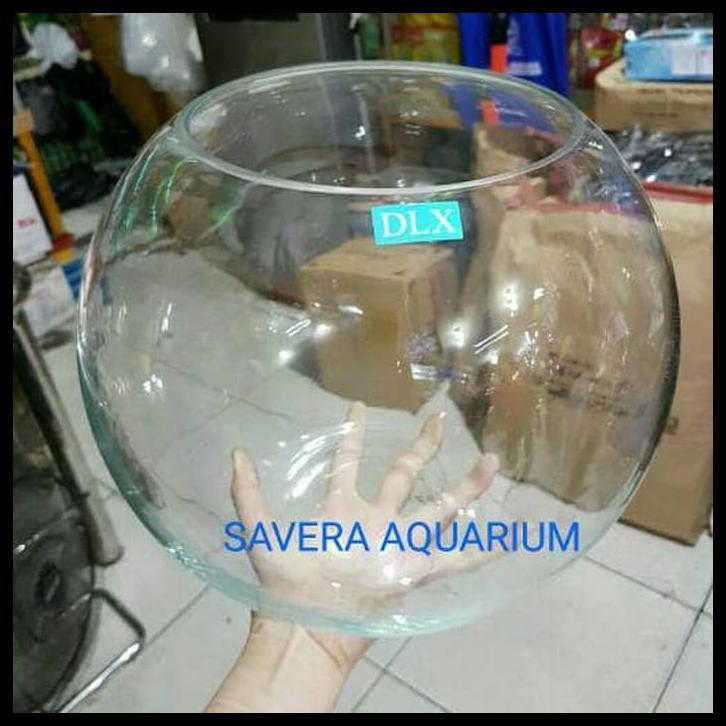 Hotsale Gojek Aquarium Bulat 12lt Fish Bowl Toples Ikan