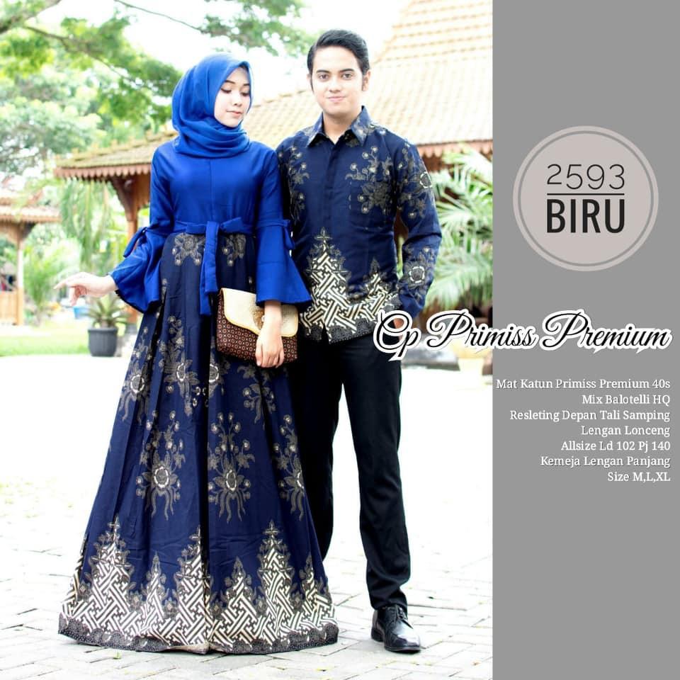Model Baju Gamis Batik Couple 11 Terbaru