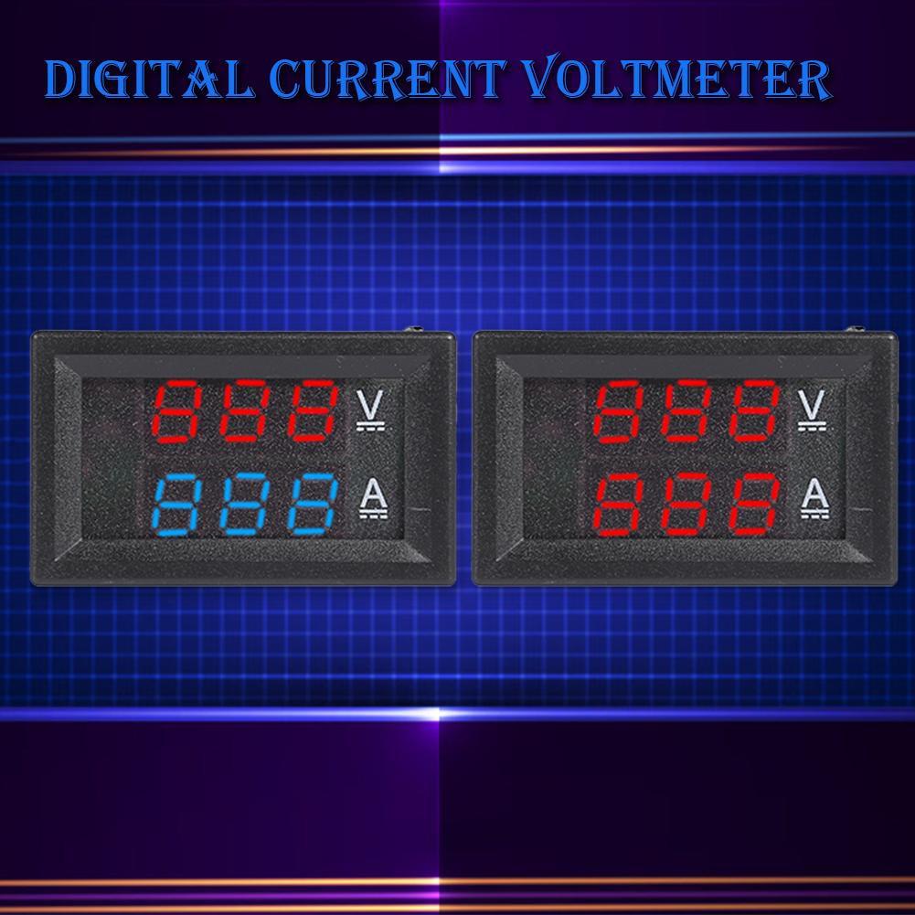 HW-811 Mini LCD Digital Voltmeter Ammeter DC 100V 50A Panel Meter with Shunt
