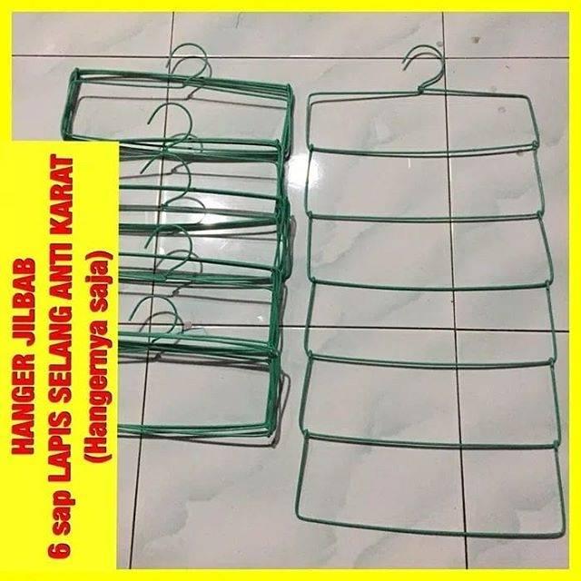 Hanger Jilbab Besi Organizer Besi Lipat Kecil | Shopee