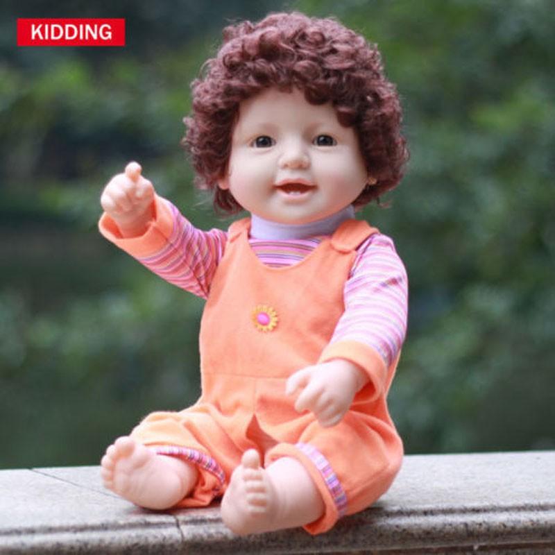 Kidding Mainan Boneka Reborn Bayi Laki Laki 20 Berambut Keriting