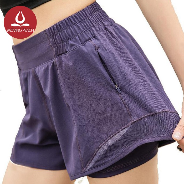 MOVING PEACH Celana Pendek Sport untuk Fitness / Yoga CPT