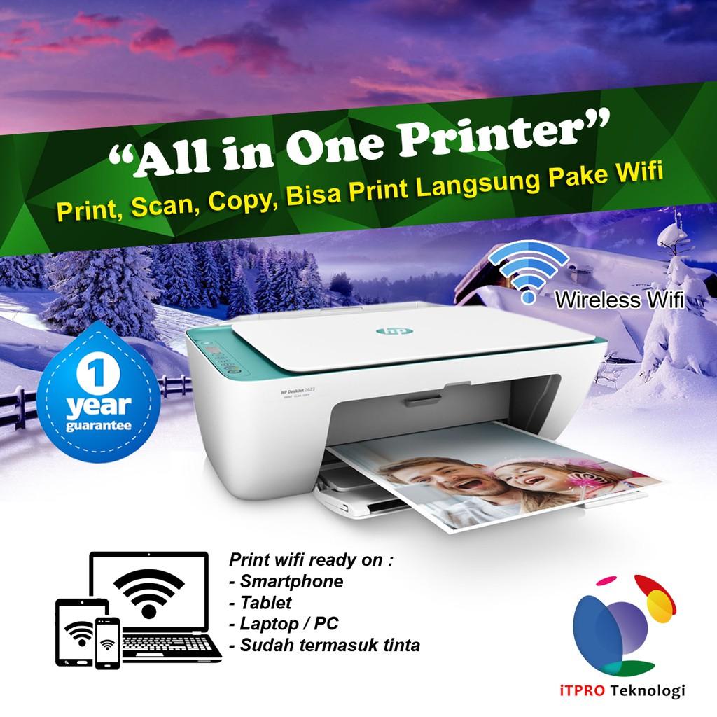 HP Deskjet 2623 Printer All in one Wifi - Green