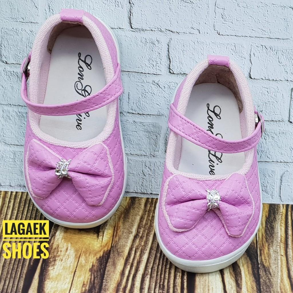 Sepatu Anak Usia 1 2 3 4 Tahun Pita Pink Sepatu Anak Perempuan Btf