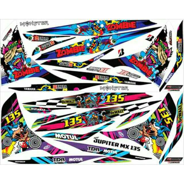 Sticker Striping Variasi Thailand / Thailook Jupiter Mx 135 New (SPARK MX) | Shopee Indonesia