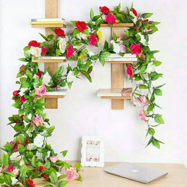 BUNGA MAWAR RAMBAT / Bunga Artificial / tanaman artificial / tanaman rambat / shabby chic |