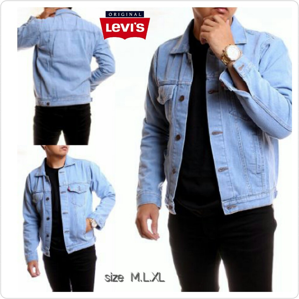 jaket denim cowo jaket jeans pria premium PREMIUM  31ad5360c6