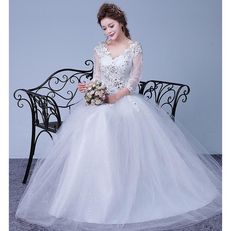 1706005 Merah Gaun Pengantin Wedding Gown Wedding Dress | Shopee Indonesia