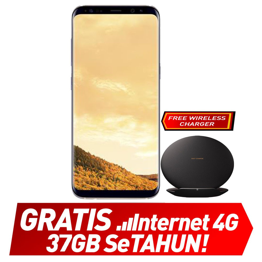 Samsung S8 64gb Gold Unlocked 15gb Gratis Internet Setahun Smartfren Sp Gsm Free 37gb Shopee Indonesia