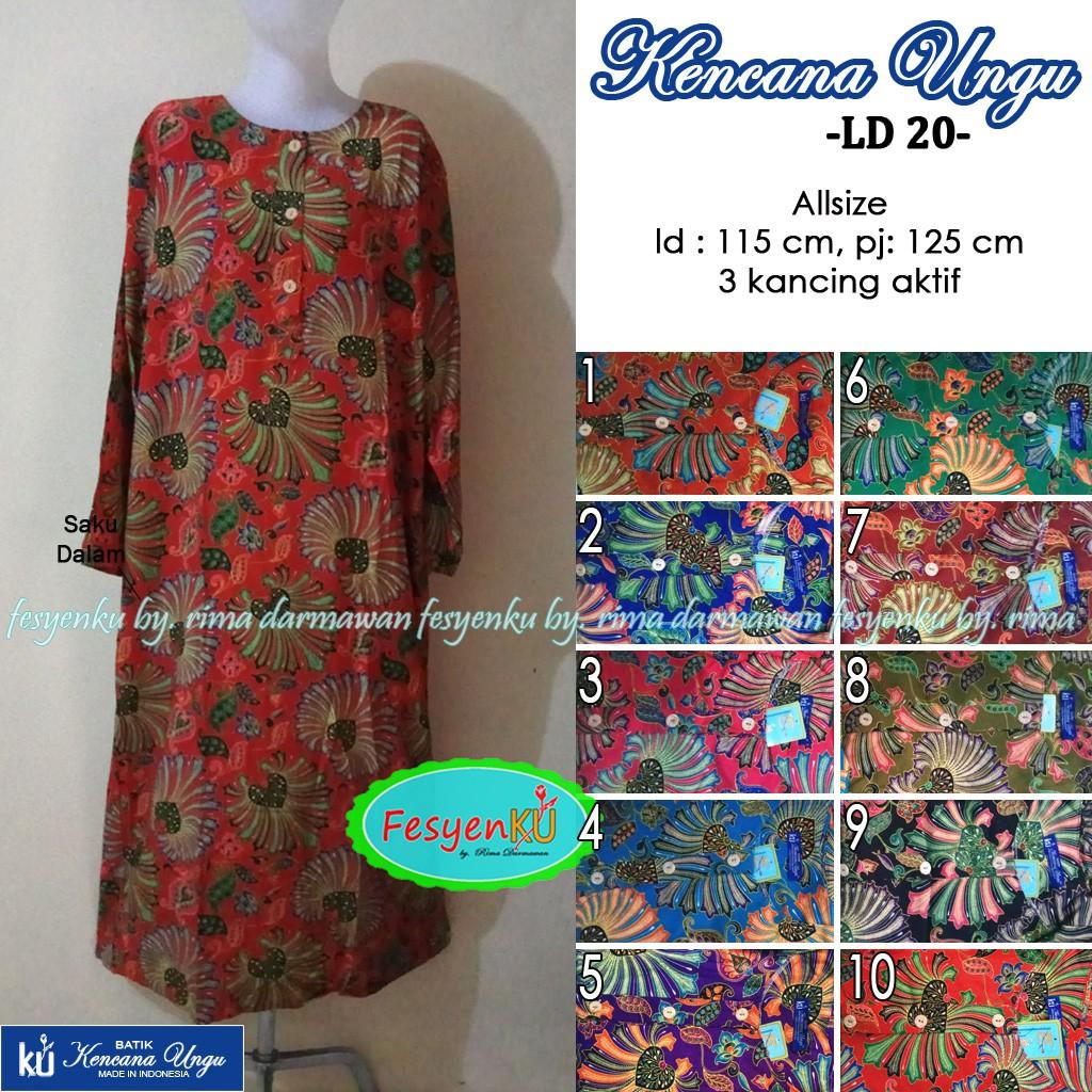 Longdress 20 Batik Kencana Ungu Label Biru  dc42e036ee