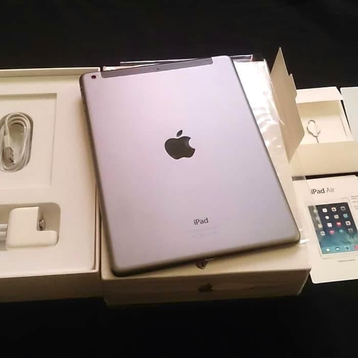 [Tablet Second] iPad Air 32GB Wifi Cell 4G LTE Retina Fullset EX RESMI APPLE - Abu-abu Tab Bekas