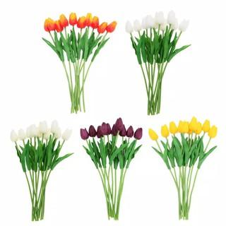 bunga tulip latex/artificial tulip hiasan palsu plastik
