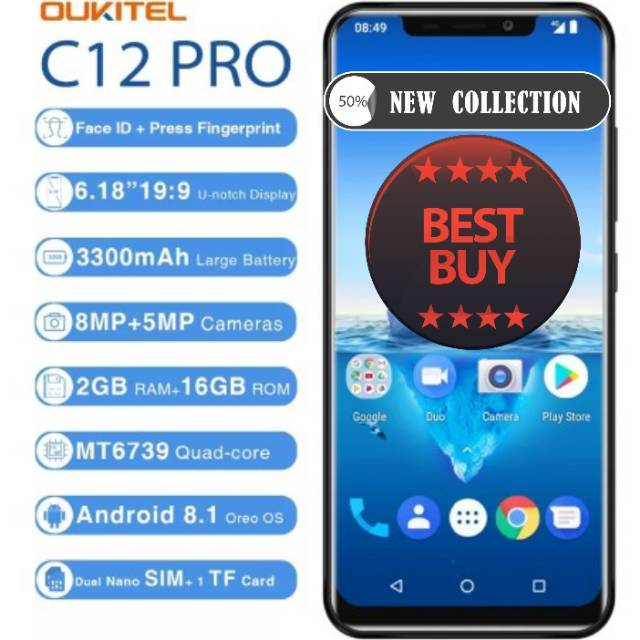 "Smartphone android Oukitel C12 Pro 4G 6.18"" 19:9 Android 8 ..."
