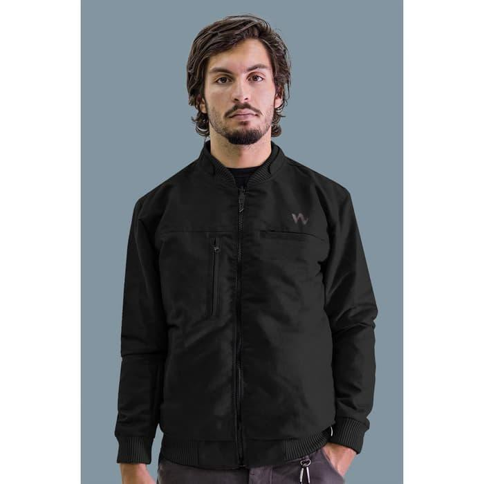 [Outerwear] Jaket Bomber Bolak Balik Multifungsi HELIO Hitam - Iwearzule - Hitam Maroon, S