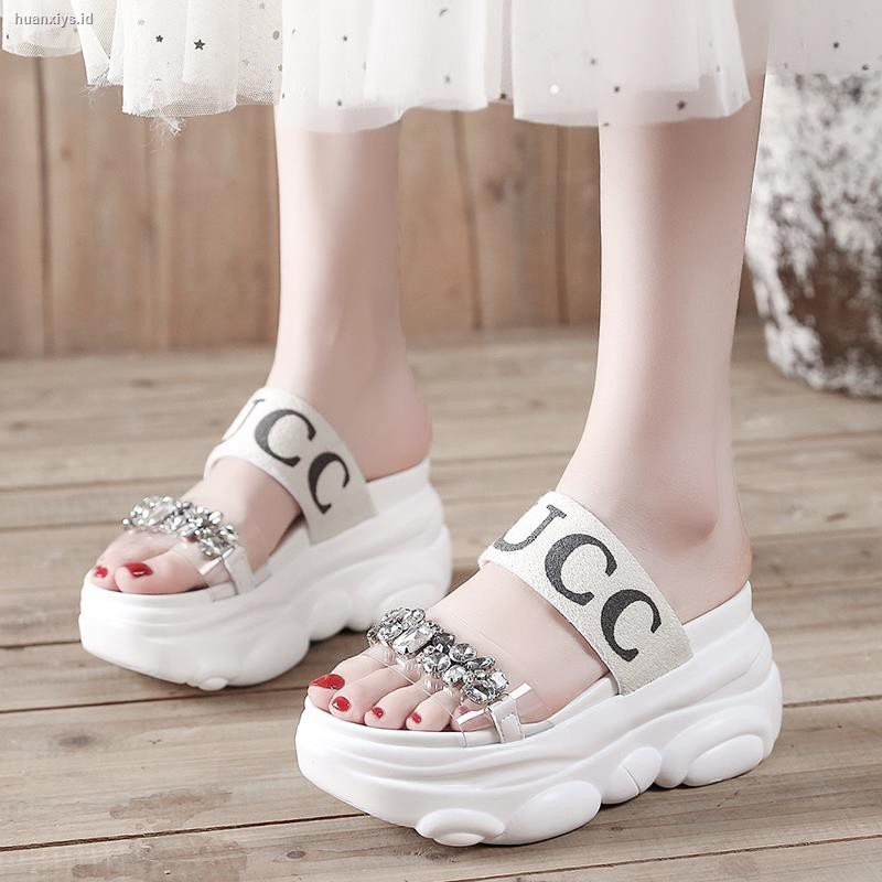 Sandals Female Summer Thick Bottom Pregnant Women Students Simple Flat Bottom Roman Beach Fairy Ultra Soft Comfort Insole,White,5