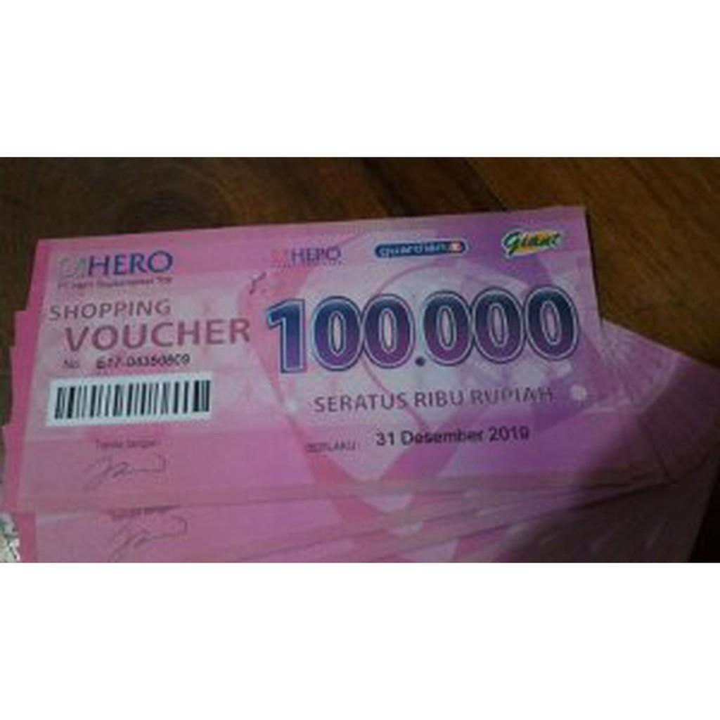 Voucher Fisik Belanja Guardian Giant Hero Supermarket Pecahan Rp 100000 50000 Murah Shopee Indonesia