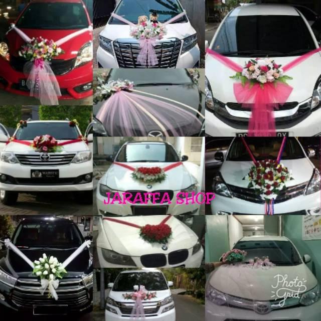 Jra Set Bunga Hias Mobil Pengantin Bunga Pengantin Dekorasi Pernikahan Reqiest Motif Shopee Indonesia