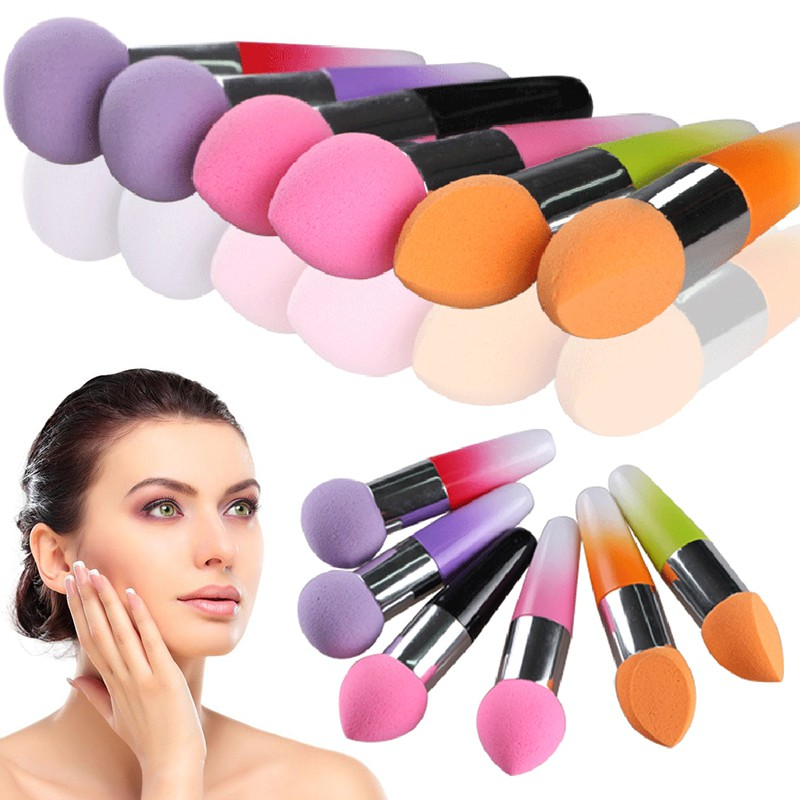 Brush Spons Puff Beauty Blender untuk Foundation/Bedak | Shopee Indonesia