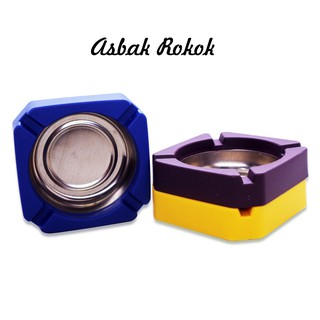 Asbak Rokok Ash Tray stainless steel /Asbak kotak | Shopee ...