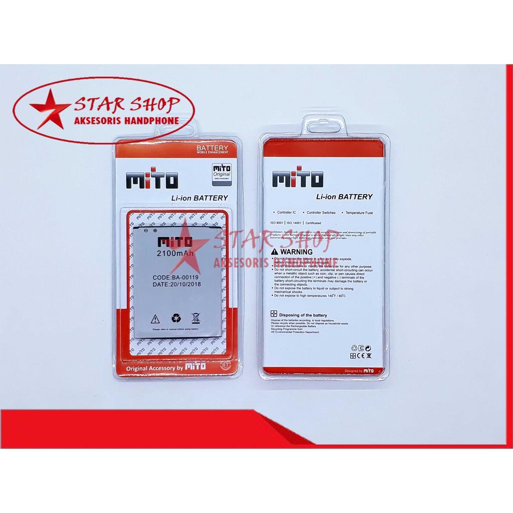 BATERAI MITO A69 - FANTASY 3 - BA00125 - BA-00125 BATTERY BATRE ORIGINAL | Shopee Indonesia