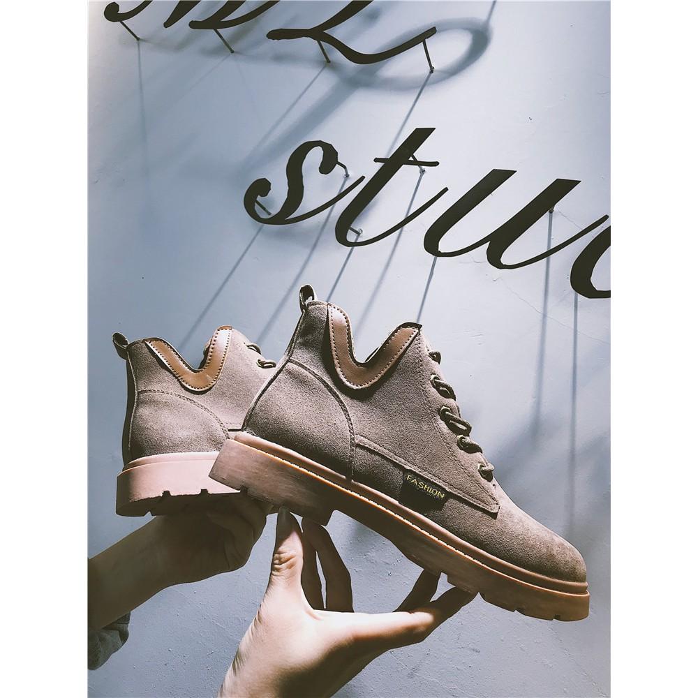 Sepatu Boots Martin Wanita Gaya Retro Korea Untuk Musim Gugur E Sapi Pb34 Shopee Indonesia