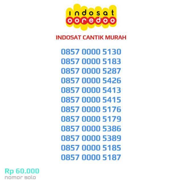 INDOSAT CANTIK IM3 Ooredoo 4G Kartu Perdana Nomor Murah Couple Pasangan