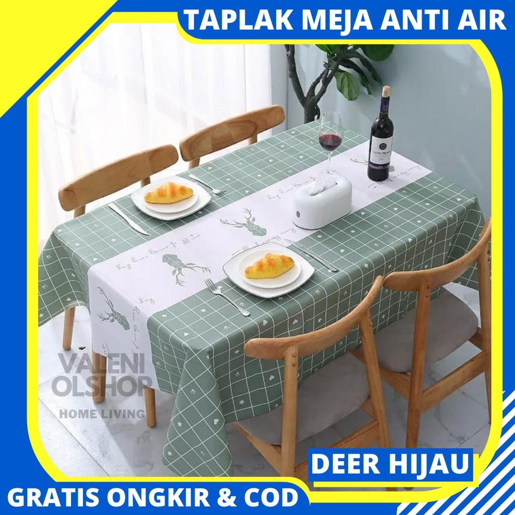Taplak Meja Anti Air Taplak Meja Makan Plastik Lebih Besar Lebih Tebal Cover Meja Makan Table Runner Shopee Indonesia Taplak meja makan plastik