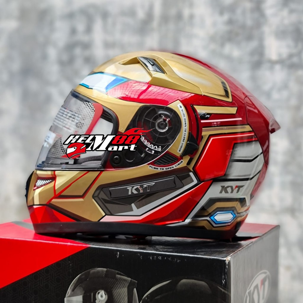 Helm KYT K2 RIDER IRON MAN Spesial Edition MARVEL Helm Fullface KYT K2R KYT K2 (2KG)
