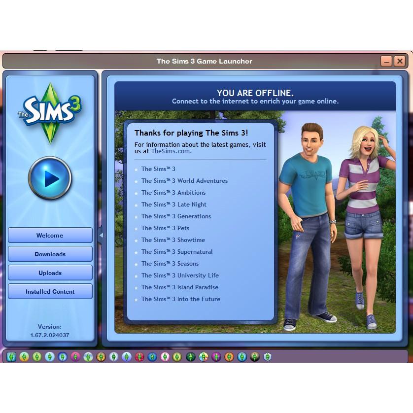 The Sims 3 Full Pack Via Flashdisk Offline Shopee Indonesia