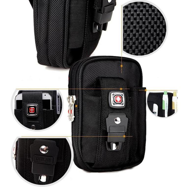 Kalibre 920404-999 Smartphone Case Tas Pinggang Waistbag Dompet Hp Vape Iphone Bb Digital Camera