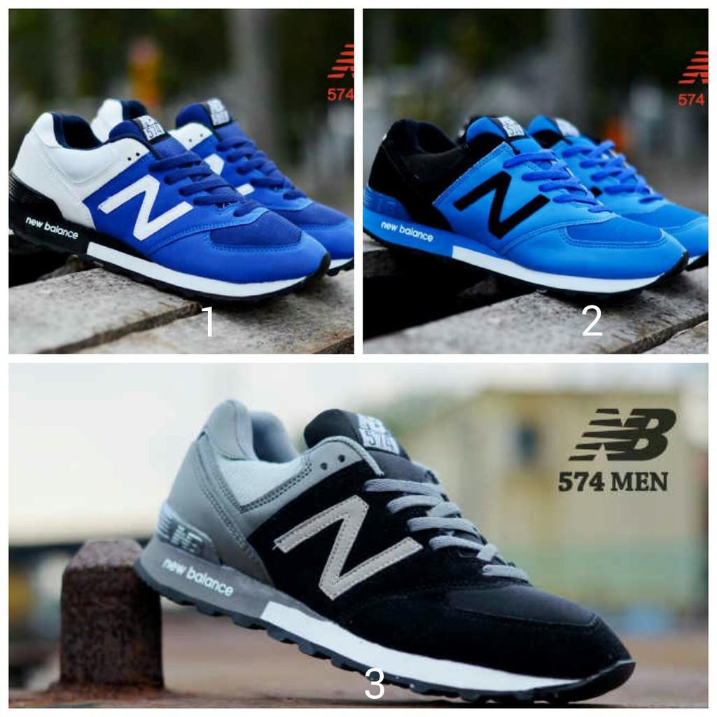 (BEST SELLER) sepatu olahraga nb new balance 574   sepatu casual pria cowok  murah sneakers kets  9a674a05c0