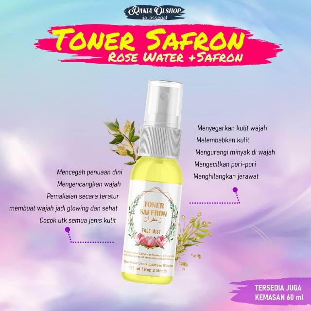 Saffron Toner Rose Water Saffron 100ml 60ml Shopee Indonesia
