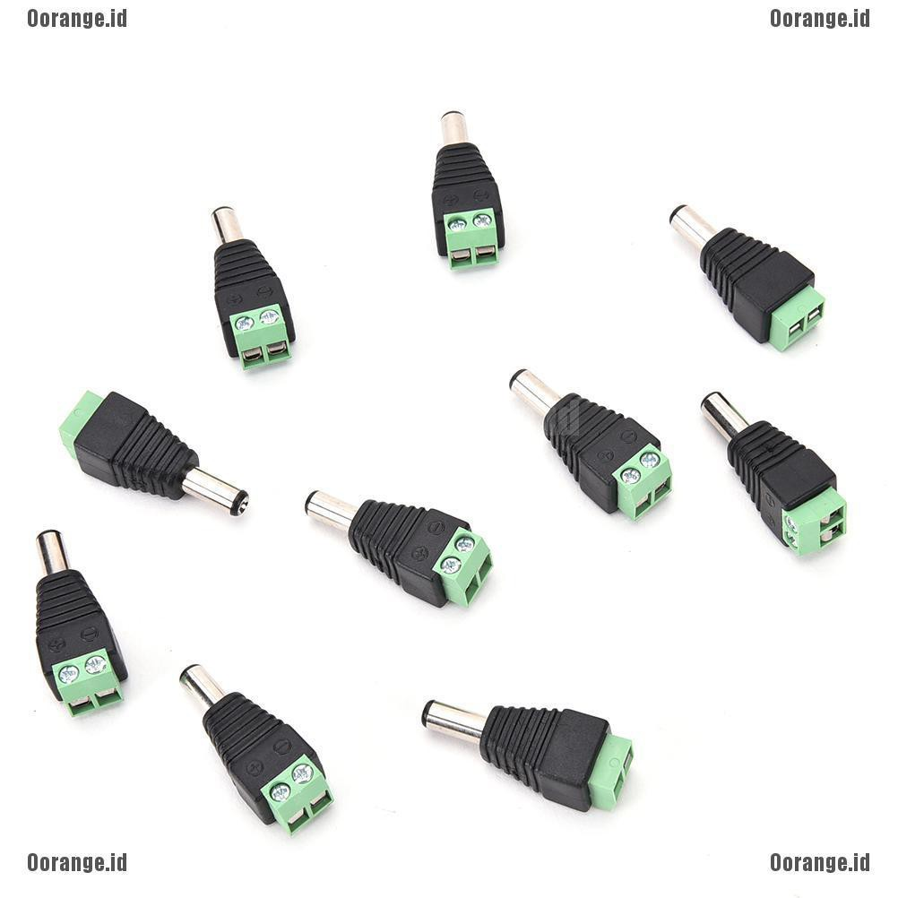 10PCS  Female DC Power Jack supply socket 5.5mm X 2.5mm Charger Power Plug