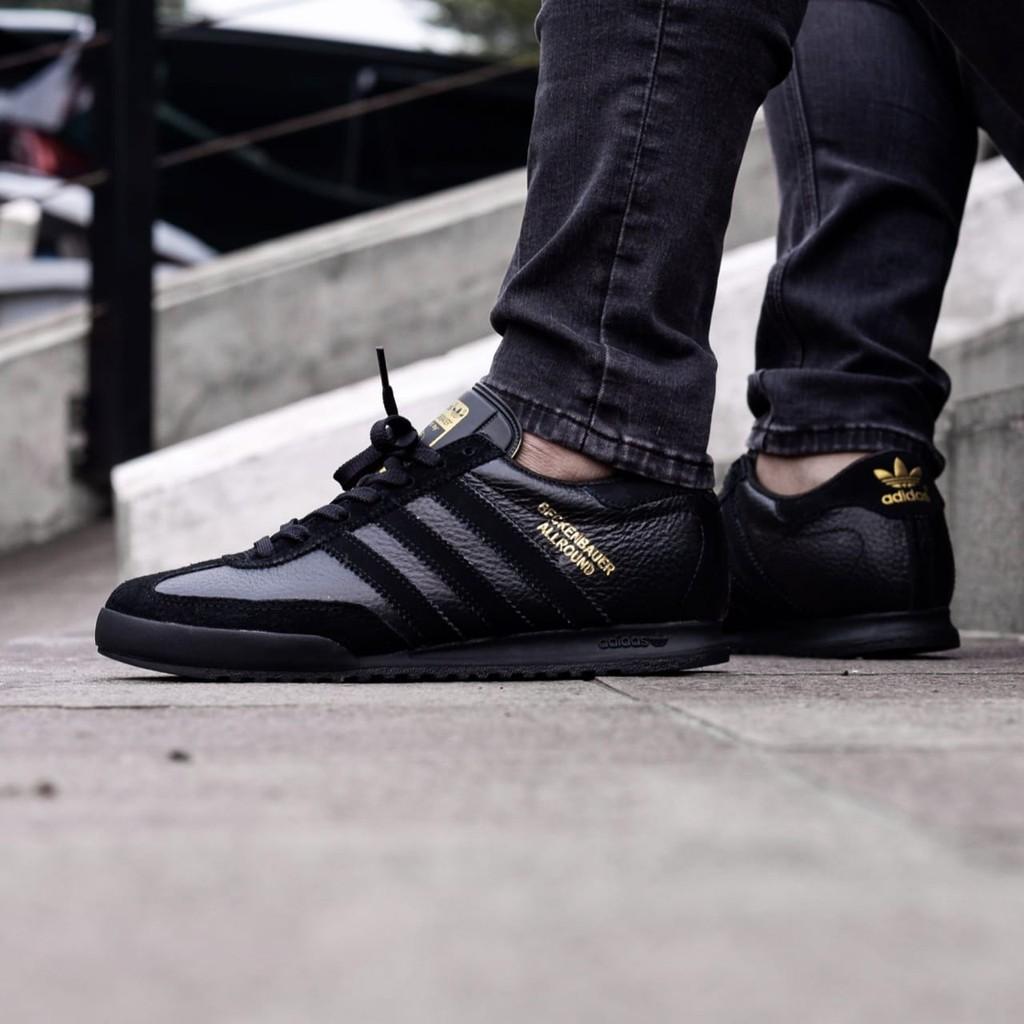 dulce Multa Guión  Adidas Beckenbauer Allround Black Black Gold | Shopee Indonesia