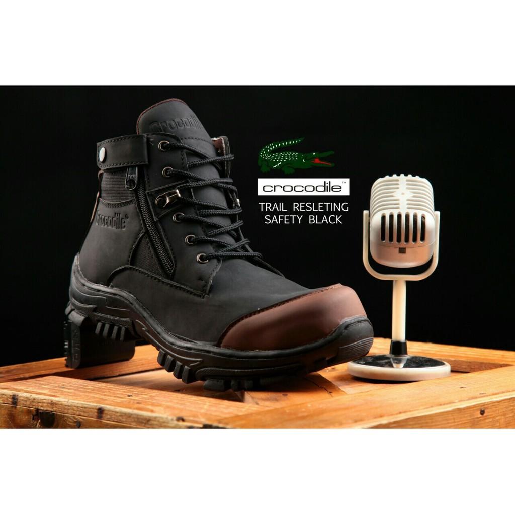 DNG  CROCODILLE ZIPPER TRAIL ( CTR180509 ) - Sepatu Boot Touring Pria  Zipper Bikers Steel Toe  bd1e1f2f69