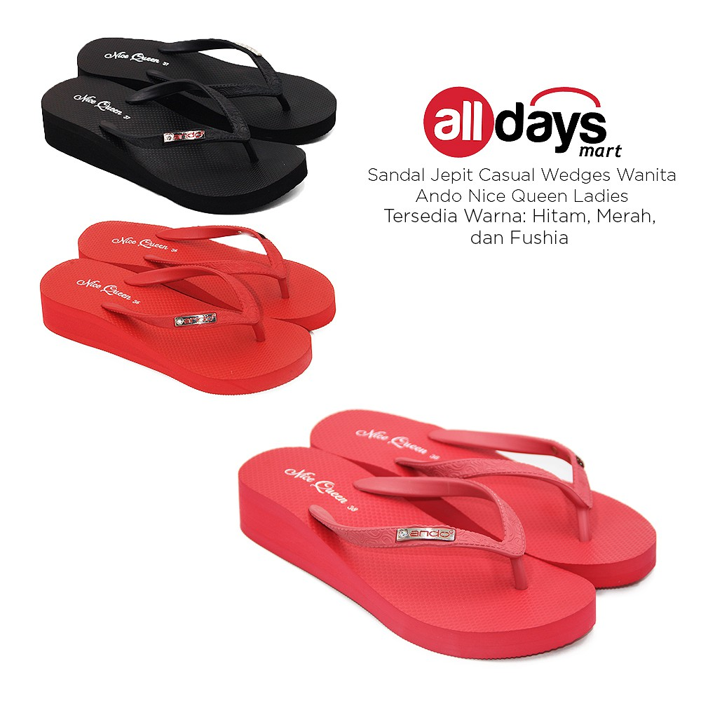 Ando Sandal Jepit Nice Ladies Red7 Daftar Harga Terkini Dan Surfer Girl Sepatu Sendal Anak Free Shipping Jabodetabek Queen Red Japit